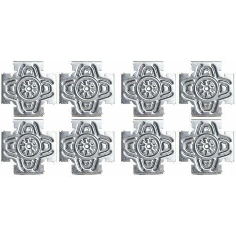 Lot de 2 Croix Solutions Semin - système permettant de fixer des éléments type trappe de visite, fenêtre, porte dans une ossatures métallique - intérieur - 8 Pièces