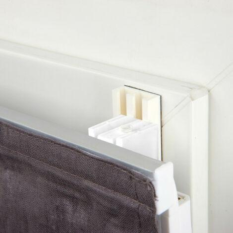 Lot de 2 de Fixations autocollantes compatibles tout store - U11 Blanc - Blanc