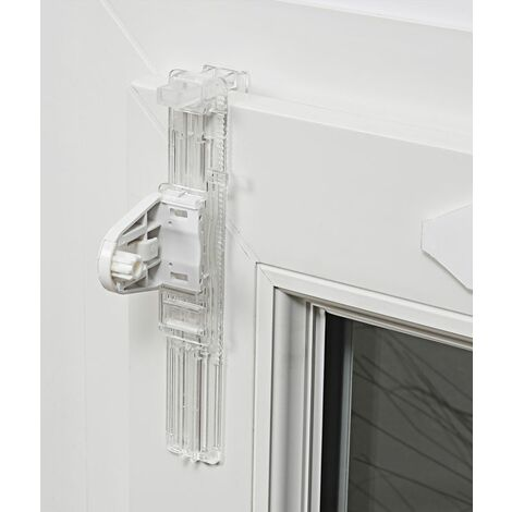Lot de 2 de Fixations de store à serrer sans perçage pour fenêtre avec aération E25 Transparent - Transparent