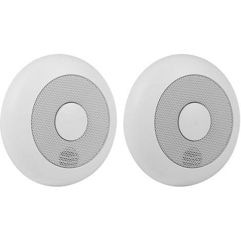 Lot de 2 détecteurs de fumée sans fil - Smartwares - Blanc