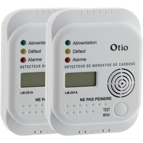 Lot de 2 détecteurs de monoxyde de carbone LM-201A - Otio