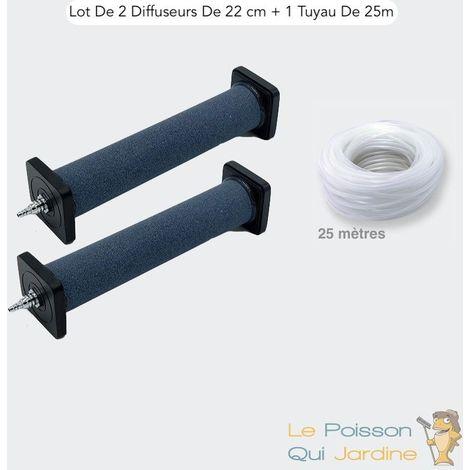 Lot De 2 Diffuseurs D'Air, 22 cm De Longueur + 1 Tuyau 25 m