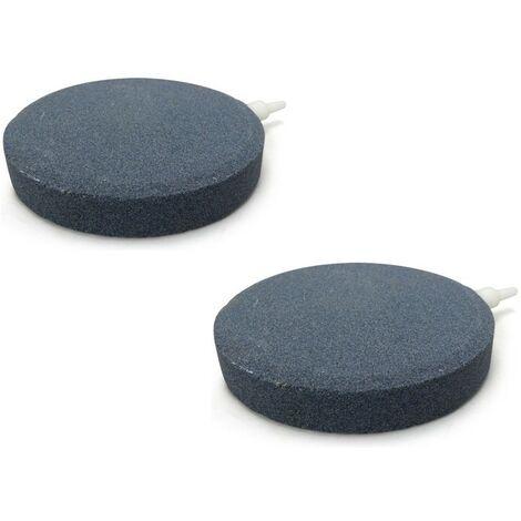 """main image of """"Lot de 2 diffuseurs d'air disques 10 cm pour bassins de jardin"""""""