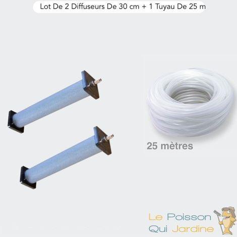 Lot De 2 Diffuseurs De 30 cm De Long + 1 Tuyau De 25 m