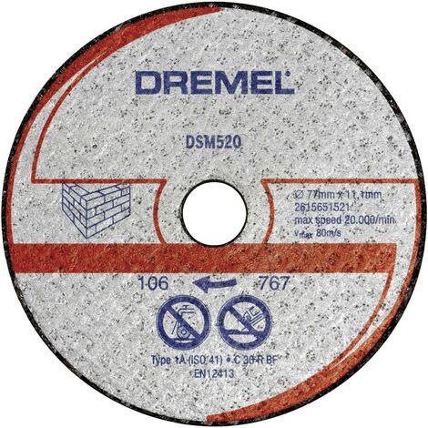 Lot de 2 disques à tronçonner pour maçonnerie Dremel DSM520 C98193