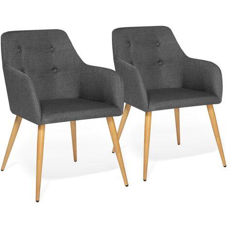 """main image of """"Lot de 2 fauteuils DANIA gris anthracite"""""""
