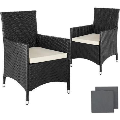 Lot de 2 fauteuils de jardin aluminium avec 2 sets de housses