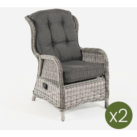 Lot de 2 fauteuils de jardin inclinables en aluminium et rotin synthétique ronds, gris, dimensions : 64 x 80 x 105 cm - https://images-na.ssl-images-amazon.com/images/I/41OR81w7peL._AC_.jpg