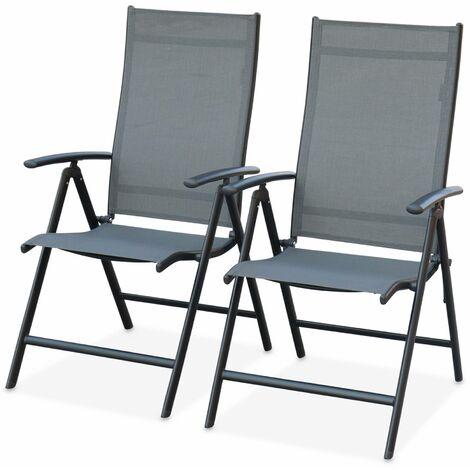 Lot de 2 fauteuils multi-positions Naevia en aluminium ...