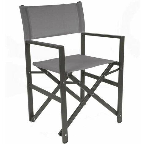 Lot de 2 fauteuils Régisseur - Chassis pliant sans toile - TPEP - Gris