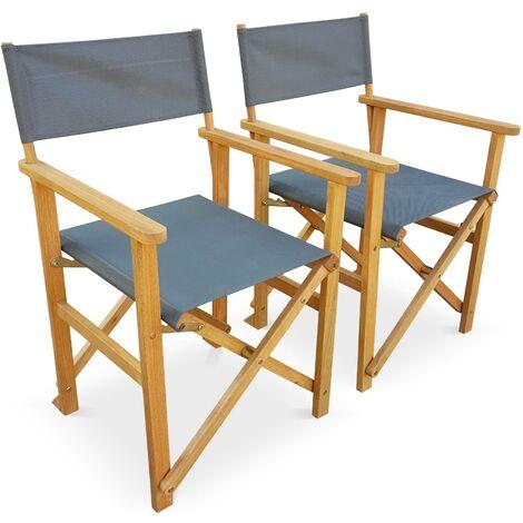 Lot de 2 fauteuils type réalisateur - Banderas