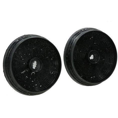 Lot de 2 filtres charbon acm14 145x30mm pour hotte Ariston Hotpoint 484000008780
