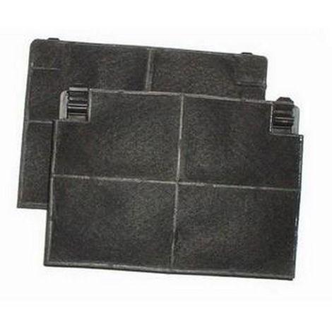 Lot de 2 filtres charbon ROBLIN 5403001 193x137x20mm (484000008781) Hotte 52991 ROBLIN, BRANDT, ZANUSSI, ARISTON HOTPOINT, SAUTE