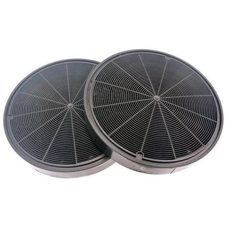 Lot de 2 filtres charbon type 196 (484000008674) Hotte 295552 ROBLIN, ARISTON HOTPOINT, FRANKE, DE DIETRICH, AEG, ZANUSSI, ELECTROLUX, SIEMENS, ARTHUR MARTIN ELECTROLUX, SCHOLTES, BOSCH, INDESIT, NEFF, ZANKER
