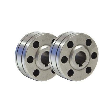 Lot de 2 galets type B pour fil fourré GYS 0.9-1mm/1.2mm