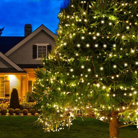"""main image of """"Lot de 2 guirlandes solaires 240 LED lampes extérieures étanches"""""""