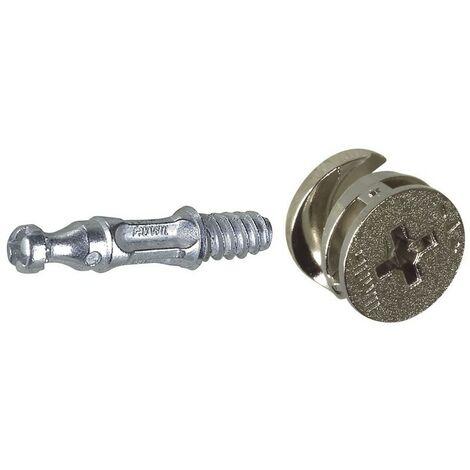 Lot de 2 Kit Ferrures d'assemblage Diamètre 15mm. L.24mm