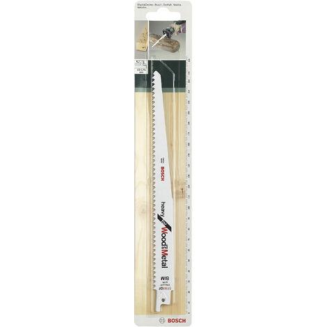 Lot de 2 lames coupe multimatériau BOSCH S1111df pour scie sabre ou égoïne