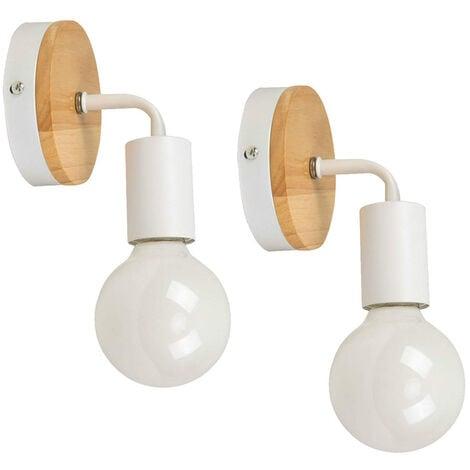 Lot de 2 Lampe Murale E27 eclairage Luminaire Applique Murale pour Couloir  Chambre