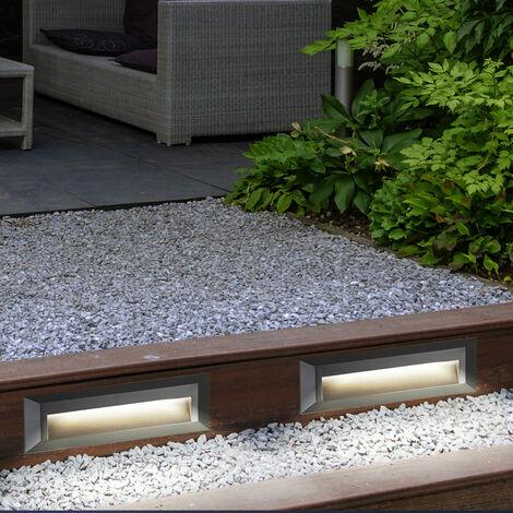 Lot de 2 lampes de marche LED, gris foncé, longueur 23 cm