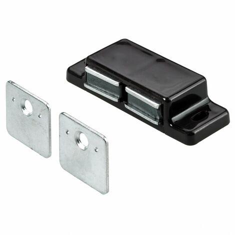 Lot de 2 loqueteaux magnétiques plastique HETTICH, L.20.8 x l.58.3 mm