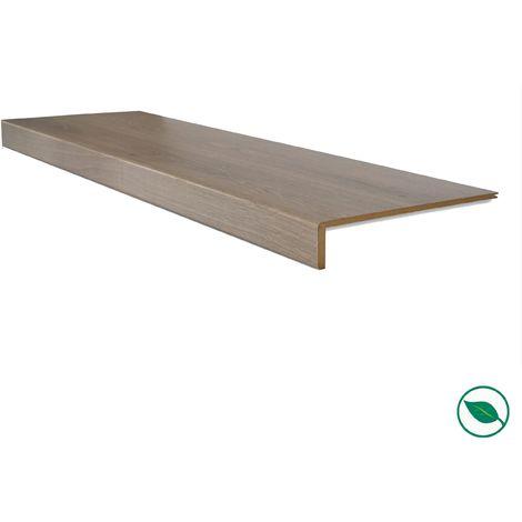 Lot de 2 marches rénovation d'escalier stratifié chêne gris 1000 x 250 x 5,6 mm