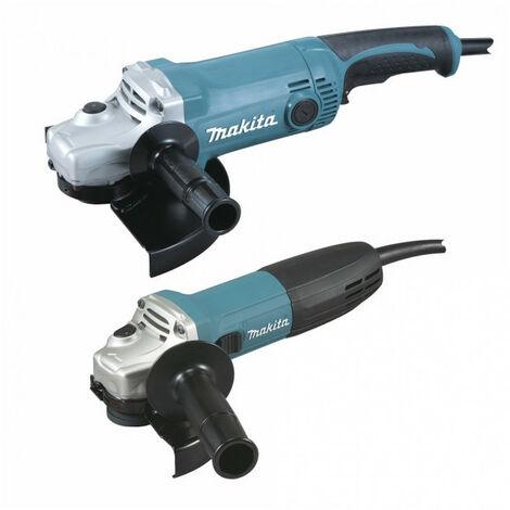 Lot de 2 Meuleuses angulaires Ø125mm GA5030R + Ø230mm GA9050 - DK0057 Makita