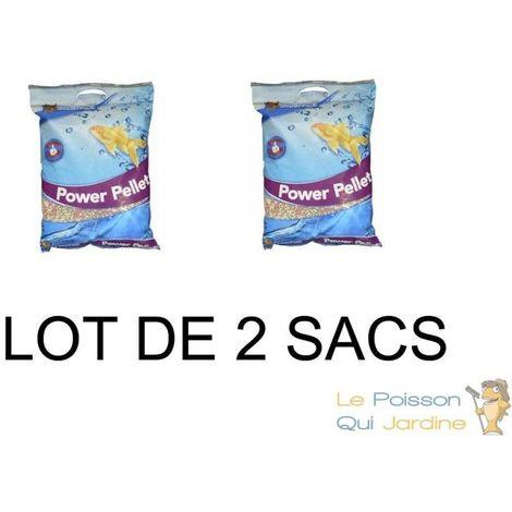 Lot de 2 nourritures Mix en granulés 15 L pour kois : bassin et d'étangs
