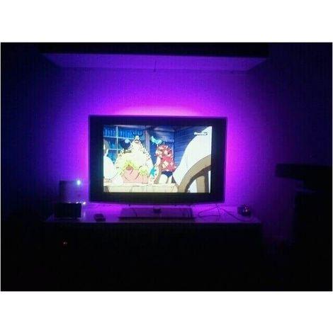 Lot de 2 Packs rétroeclairage led pour TV 2 x 90 cm usb avec télécommande et contrôle musical