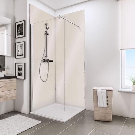 Lot de 2 panneaux muraux 100 x 210 cm, revêtement pour douche et salle de bains, DécoDesign BRIO, Schulte, Vert d'eau brillant