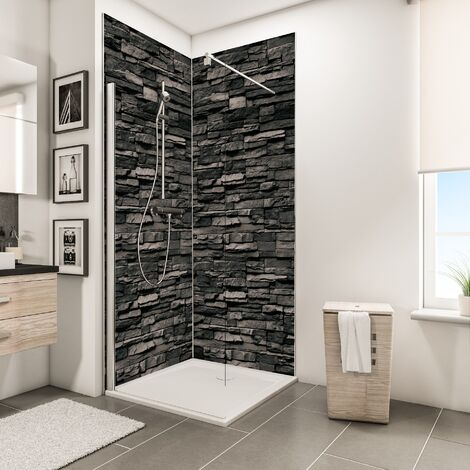 Lot de 2 panneaux muraux 100 x 210 cm, revêtement pour douche et salle de bains, DécoDesign DÉCOR, Schulte, différents décors au choix