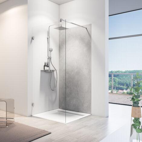Lot de 2 panneaux muraux 100 x 210 cm, revêtement pour douche et salle de bains, DécoDesign SOFTTOUCH, Schulte