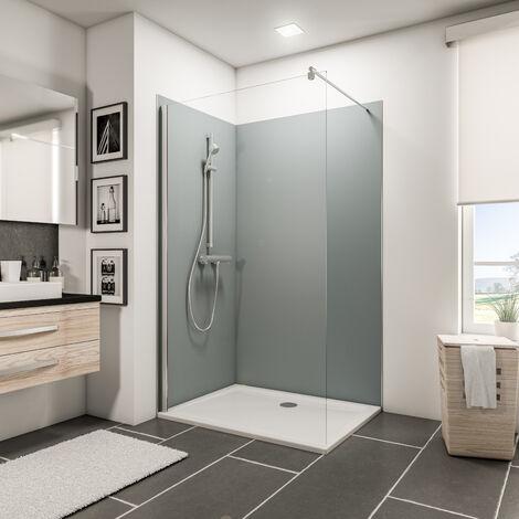 Lot de 2 panneaux muraux 90 x 120 x 210 cm, revêtement pour douche et salle de bains, DécoDesign COULEUR, Schulte, blanc