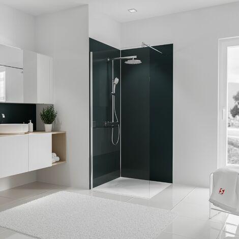 Lot de 2 panneaux muraux 90 x 210 cm 3 profil s Revetements muraux salle de bain