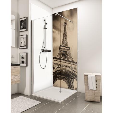 Lot de 2 panneaux muraux 90 x 210 cm + 3 profilés, revêtement pour douche et salle de bains, DécoDesign PHOTO, Schulte, Pierres zen et herbes + panneau blanc