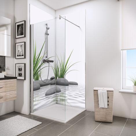 Lot de 2 panneaux muraux 90 x 210 cm, revêtement pour douche et salle de bains, DécoDesign PHOTO, Schulte, différents décors au choix