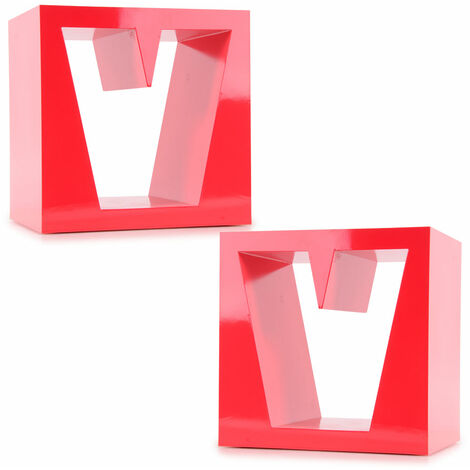 Lot de 2 pièces diviseur MDF étagères en bois vivant étagères de salle rouge haute brillance