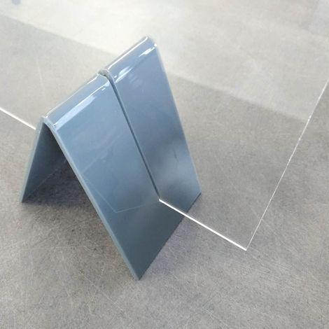 """main image of """"Lot de 2 pieds de soutien pour vitre de protection plexiglass 3 mm"""""""