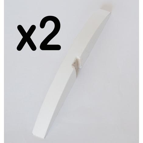 Lot de 2 pieds pour paravent en bois coloris blanc - Dim : Hauteur 2,8 x Largeur 33 cm