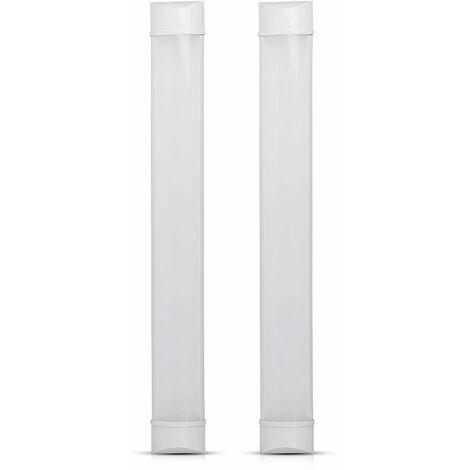 Lot de 2 plafonniers LED cuisine salle de bain éclairage meubles placard sous-structure lampe