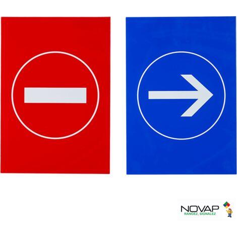 Lot de 2 plaques modulable rouge et bleue - Sens interdit & Sens obligatoire - 4280318