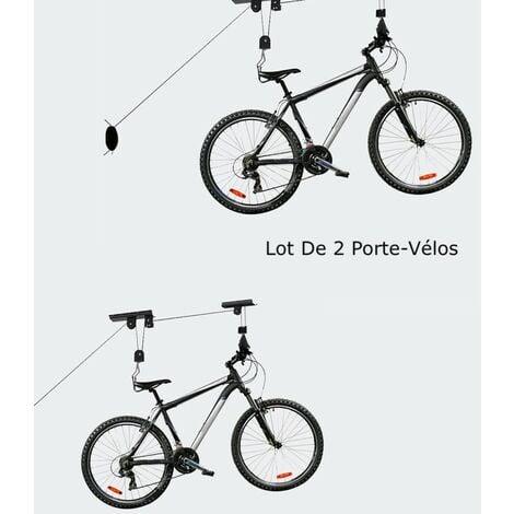 Lot de 2 Porte-Vélos, Support de Rangement au Plafond, Charge max 20kg