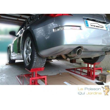 Lot de 2 Rampes de levage 2000 kg avec cric hydraulique pour garage