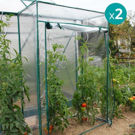 Lot de 2 serres souples à tomates PVC - 795005