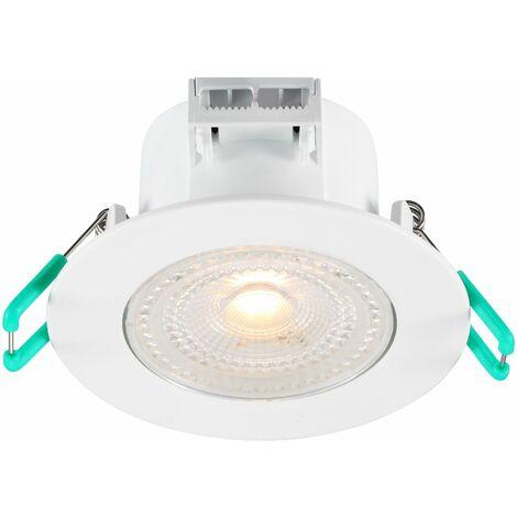 LOT DE 2 SPOT ENCASTRE LED IP44 ORIENTABLE BLANC CHAUD 3000K 5W 420 LUMENS - SYLVANIA