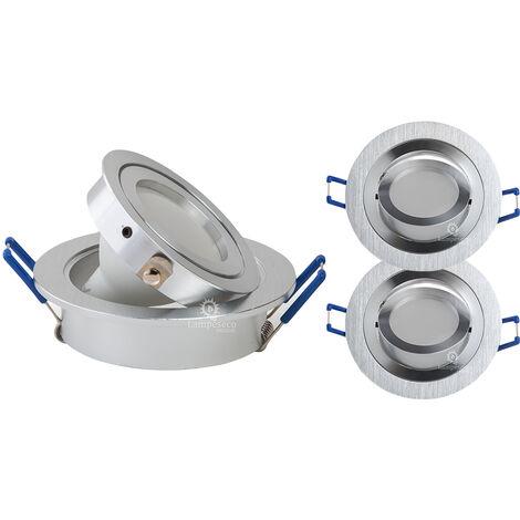 LOT DE 2 SPOT LED ENCASTRABLE ORIENTABLE 5W eq. 50W, BLANC FROID ref.64856000