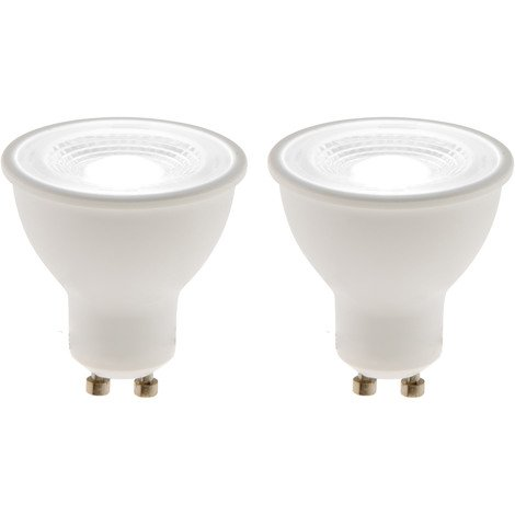 Lot de 2 spots LED 6W GU10 425lm 4000K