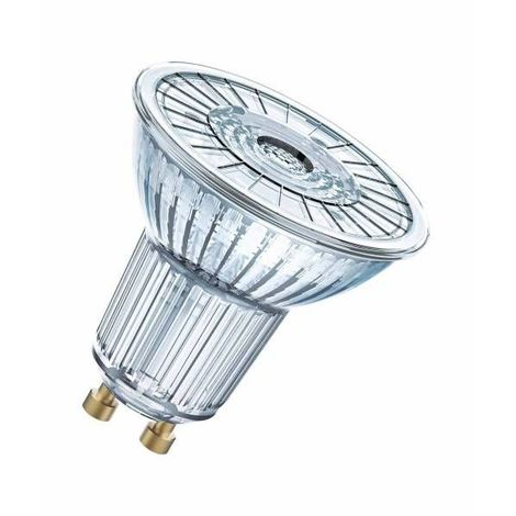 Lot de 2 Spots LED GU10 PAR16 36° 4,3 watt (eq. 50 watt) - Couleur - Blanc chaud 2700°K