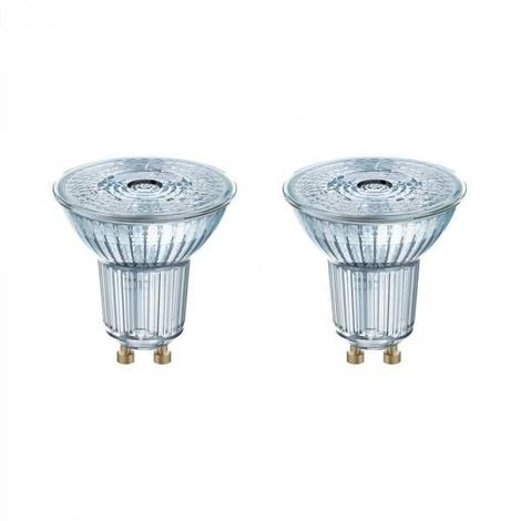 Lot de 2 Spots LED GU10 PAR16 36° 4,3 watt (eq. 50 watt) - Couleur - Blanc neutre 4000°K