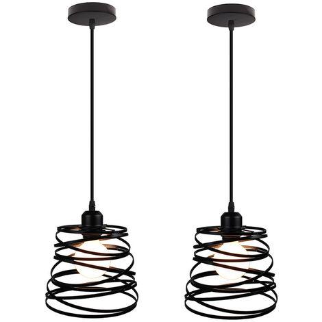 Lot de 2 Suspension Luminaire Industrielle Design forme